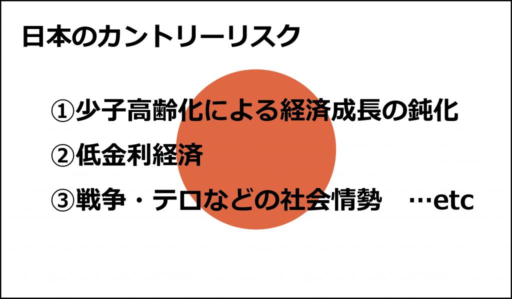 日本のカントリーリスク